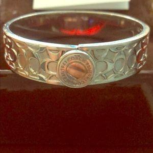 Sterling Silver Coach Bangle Bracelet